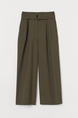 H&M Wide Belted Pants