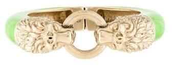 Chanel Enamel Lion Bangle Bracelet