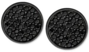 Sutton by Rhona Sutton Men's Black-Tone Sterling Silver & Jet Cubic Zirconia Stud Earrings