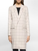 Calvin Klein Windowpane Car Coat
