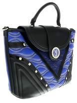 Versace Ee1vobbk1 Emaf Black/blue Top Handle.