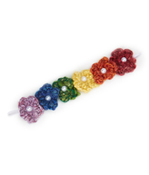 Jean Marie Rainbow Crochet Flower Headband