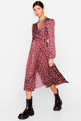Nasty Gal Womens Tell It to Your Heart Satin Midi Dress - Burgundy