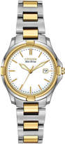 Citizen 28mm Silhouette Sport Two-Tone Bracelet Watch, White