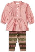 Ralph Lauren Infant Girls' Pintucked Denim Top & Fair Isle Print Leggings Set - Sizes 3-24 Months
