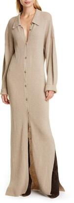 Nanushka Bella Long Sleeve Merino Wool & Cashmere Blend Sweater Dress