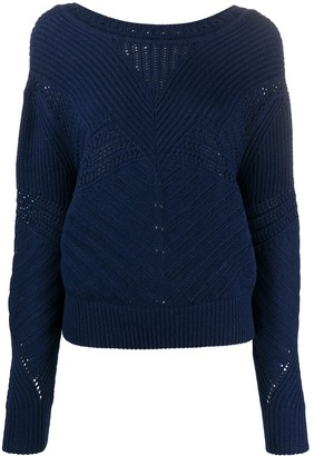 Barrie Textured Knit Jumper