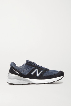 New Balance 990v5 Suede, Mesh And Leather Sneakers - Navy