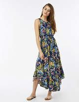 Monsoon Taylor Print Frill Curved Hem Dress