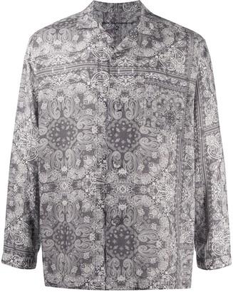 White Mountaineering Bandana-Print Pajama Shirt