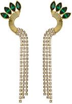 Yochi Peacock Rhinestone Earrings