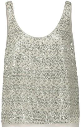 Velvet Milan sequined tank top