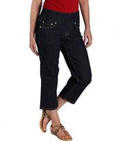 Jag Echo Elastic-Waist Crop Jeans- Indigo