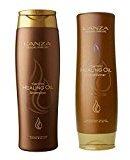 L'anza Lanza Keratin Healing Oil Shampoo 10.1 & Conditioner 8.5 oz Duo