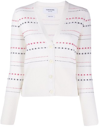 Thom Browne Stitch V-Neck Cardigan