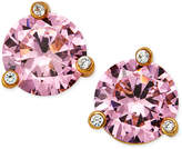 Kate Spade Gold-Tone Pink Stone and Crystal Stud Earrings