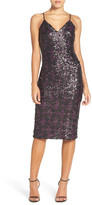 Dress the Population 'Nina' Sequin Midi Dress
