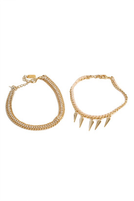 Chan Luu Light Pink and Gold Friendship Bracelet