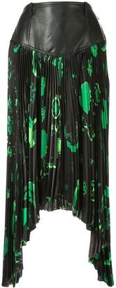 Marine Serre Shamanic asymmetric pleated skirt