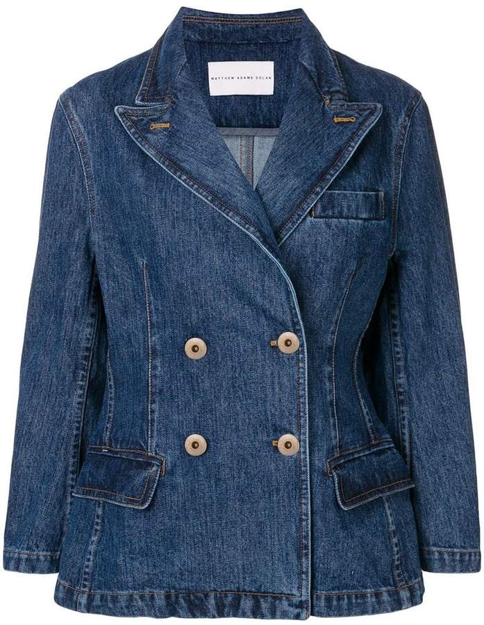 d3ed2c8a Denim Double Breasted Jacket - ShopStyle