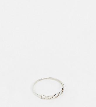 Kingsley Ryan Exclusive interlocking hearts ring in sterling silver