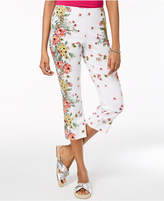 Charter Club Floral-Print Capri Pants, Created for Macy's