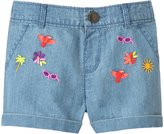Gymboree Chambray Embroidered Shorts - Infant & Toddler