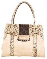 Dolce & Gabbana Snakeskin & Alligator Trimmed Shoulder Bag