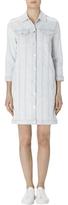 J Brand Maxi Denim Jacket Dress In Bleached Stripe