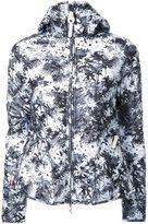 Kru - reversible palm print hooded puffer jacket - women - Polyester - XS