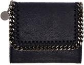 Stella McCartney Navy Small Falabella Flap Wallet