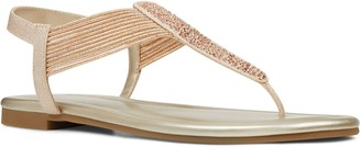 Bandolino Pull On T Strap Flat Sandals - Kayte