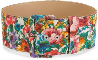 Dolce & Gabbana Multicolored Floral-Print Belt
