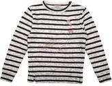 Emile et Ida Striped Embroidered Pigeon Sweatshirt