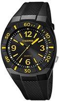 Calypso Men's Quartz Watch with Black Dial Analogue Display and Black Plastic Strap K5238/5