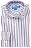 Vince Camuto Violet Stripe Slim Fit Dress Shirt