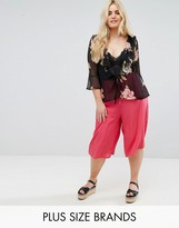 New Look Plus New Look Curve Wide Leg Culotte Pants