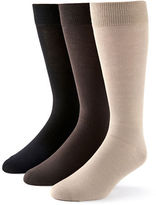 Black Brown 1826 3-Pack Bamboo Cotton Socks
