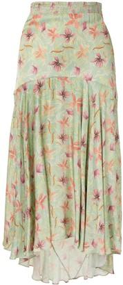 Alexis Bazli floral asymmetric skirt