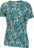 M Missoni Ruched printed stretch-jersey top