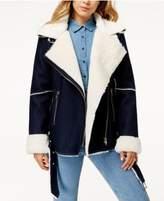 J.o.a. Faux-Shearling Denim Coat