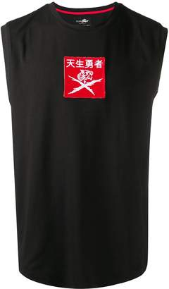 Plein Sport embroidered patch tank top