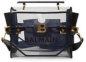 Balmain Women's B-Buzz 30 Transparent Shoulder Bag