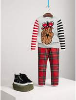 Burberry Icons Intarsia Cashmere Sweater , Size: 8Y