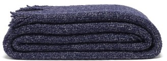 Aessai - Santa Fringed Merino-wool Blend Blanket - Navy
