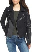 Vigoss Women's Mixed Media Moto Jacket
