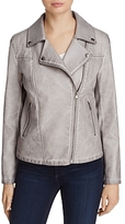 Bagatelle Trapunto Quilted Faux-Leather Moto Jacket