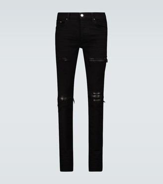 Amiri Quilted leather Animation jeans