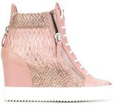Giuseppe Zanotti Design Jennifer wedge sneakers - women - Calf Leather/Leather/rubber - 36