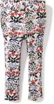 Old Navy Floral Ponte-Knit Skinny Pants for Toddler Girls